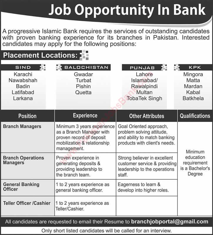 Islamic bank jobs