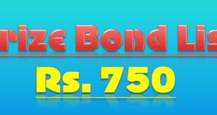 Prize bond 750 Draw #74 Full List Result 16, April 2018 Rawalpindi