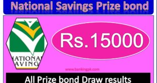Rs, 15000 Prize bond result